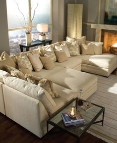 The couch that is so deep that you could pile 100 pillows on it