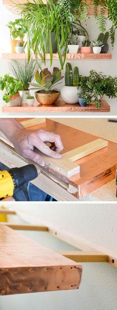 Anthro Inspired DIY Copper Shelves | DIY Home Decor Ideas on a Budget | DIY Home Decorating on a Budget