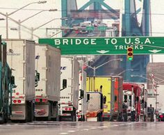 Border crossing: Windsor, Ontario, Canada and Detroit, MI, USA. Lake Orion Michigan, Detroit Michigan, O Canada, Canada Travel, Places Ive Been, Places To Go, Windsor Ontario, Detroit News, Canadian History