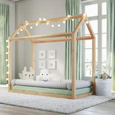 Risultati immagini per cama montessori Baby Bedroom, Baby Boy Rooms, Baby Room Decor, Girls Bedroom, Toddler Rooms, Toddler Bed, Montessori Room, Maria Montessori, House Beds