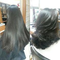 corte de cabelo feminino em 3 camadas