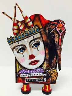 "Artist Trading Block by Kim Collister ""Have you seen my peanuts""?"