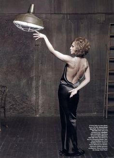 Jennifer Aniston as Barbra Streisand Pictures for Harper's Bazaar by Mark Seliger