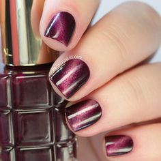 Burgundy Diagonal Gradient Nails ❤️ Over 30 Spicy Ombre Nails Transitions To Try! ❤️ See more: naildesignsjourna. French Manicure Gel, Nail Manicure, Diy Nails, Umbre Nails, Pink Ombre Nails, Gradient Nails, Holiday Nail Designs, Ombre Nail Designs, Diy Nail Designs