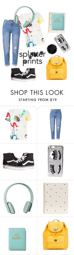 """Splashhh"" by lilikorhecz ❤ liked on Polyvore featuring Marc Jacobs, WithChic, Vans, Chiara Ferragni, Zimmermann, Sugar Paper and Coach"