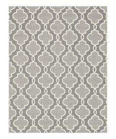 This is a rug, but think it'd be super cool as a quilt pattern!  Look at this #zulilyfind! Gray Francesca Rug #zulilyfinds