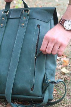 Large leather backpackLaptop backpack leatherLarge handmade