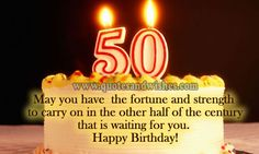 birthday quote for 50 year old Biblical Birthday Wishes, 50th Birthday Wishes Funny, 50th Birthday Messages, 50th Birthday Greetings, Happy Birthday Man, 50th Birthday Quotes, Birthday Wishes For Friend, Happy Birthday Cards, Free Birthday