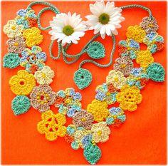 Fada Maya, colar de crochê by Lidia Luz, via Flickr