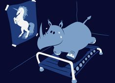 """Runnin' Rhino"" - Love this t-shirt ... I feel more like the rhino than the unicorn right now, but I'm working on it."