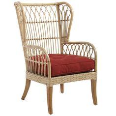 Rattan Jaka Wingback Chair - Natural