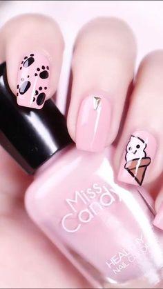 Pink Nail Art, Cute Acrylic Nails, Acrylic Nail Designs, Pink Nails, Cute Nails, Gel Nails, Nail Polish, Nail Nail, Coffin Nails