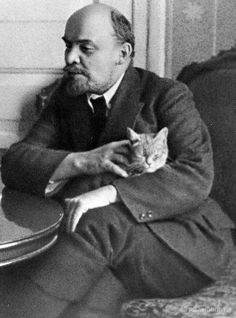 Lenin with His Cat, Speaking to an American Journalist in the Kremlin, 1920