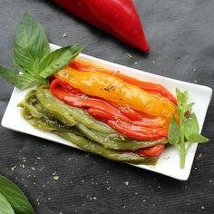 Roasted peppers in oil (Peperoni arrostiti sott'olio) @ http://allrecipes.co.uk