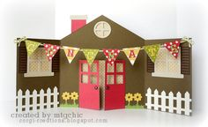 FREE DIY house with bunting card Corgi Creations: Free Silhouette Files Pop Up Cards, Cute Cards, Diy Cards, Free Silhouette Files, Silhouette Cameo, Silhouette Blog, Silhouette America, Silhouette Machine, New Home Cards