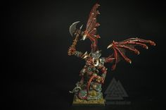 Warhammer FB Oldhammer | Daemons of Chaos | Khorne Bloodthirster #warhammer #ageofsigmar #sigmar #wh #whfb #gw #gamesworkshop #wellofeternity #miniatures #wargaming #hobby #fantasy #oldhammer #khorne #greater #daemon