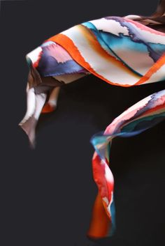 Hand painted silk scarves by Asta Masiulyte. http://astasilk.com/