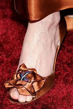 Stuart Weitzman Rita Hayworth Heels...Most Expensive Shoes Ever...adorned with rubies, sapphires and diamonds nested in a satin ruffle at the toe.
