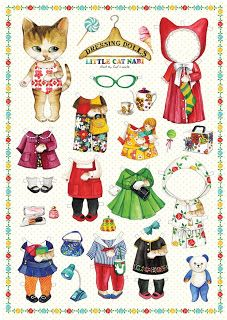 cats paper dolls ~ Where were these when I was young... Who am I kidding I want to play with them now..
