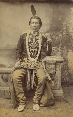 Portrait of a Ho-Chunk Winnesheik Chief | Photograph | Wisconsin Historical Society
