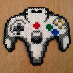 Controller Nintendo64 hama perler beads by dragoneyes00