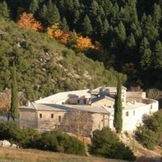 The Greek Orthodox monastery is located next to the small village of Agrambela, with only fifty residents. Greek Language, Greek Islands, Syria, Greece, Camping, Mansions, House Styles, City, Greek Isles