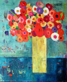 Bloom ©Barbara Olsen acrylic on canvas