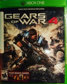 Gears of War 4 Xbox One English US Blu-ray. A new generation of soldiers battles the enemy in Gears of War the next game in the blockbuster third-person shooter series. A new band of heroes rises to confront a fearsome new threat. Xbox One S 1tb, Xbox 1, Playstation, Gears Of War 3, Video Games Xbox, Xbox One Games, Zulu, Wii U, Teaser