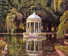 Santiago Rusiñol i Prats ~ Modernist/Symbolist painter Images Esthétiques, Old Money, Nature Aesthetic, Princess Aesthetic, Beautiful Architecture, Baroque Architecture, Aesthetic Pictures, Aesthetic Wallpapers, Beautiful Places