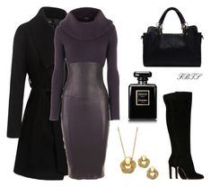 A fashion look from December 2017 by flybeyondtheskies featuring Jitrois, Gianvito Rossi, Charter Club and Chanel Work Fashion, Fashion Looks, Fashion Outfits, Womens Fashion, Classic Outfits, Stylish Outfits, Drag Clothing, Versace Perfume, Couture