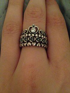 875822410df1 Stackable pandora rings-