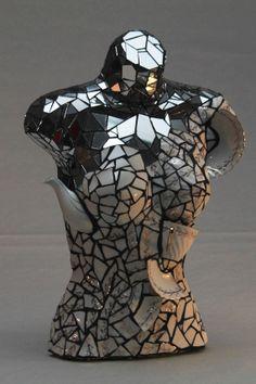 Mosaic Sculpture Art. Tea Pot and MIrror by ShaynaPolomchakArt, $700.00