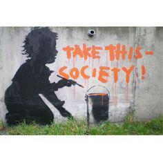 Banksy Society Canvas Print