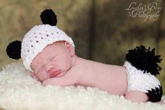 Newborn Panda Bear Set - Photo Prop - Crochet - Handmade - Photography Prop - Kids - Children - Gift by DanasCrochetShop on Etsy https://www.etsy.com/ca/listing/495374354/newborn-panda-bear-set-photo-prop