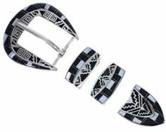 Black Jade Inlay | Mother Of Pearl Jewelry | Inlay Jewerly | Ranger Belt Buckle