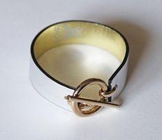 L'Abeyor silver leather bee bracelet - accessories strap ring