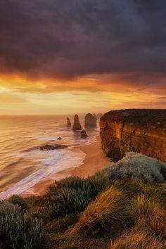 "heaven-ly-mind: "" Land Of Apostles. "" Twelve Apostles, Port Campbell National Park, Victoria, Australia"