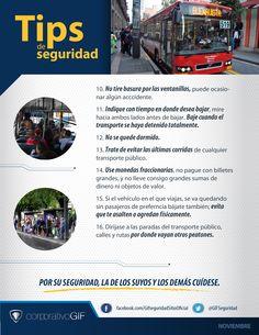 Tips de #Seguridad trasporte público