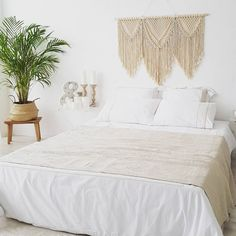 Over the bed decor, Large Macrame Wall Hanging , Headboard Modern Tapestry for Boho Home or Wedding Above Headboard Decor, Headboard Designs, Decor Over Bed, Headboard Ideas, Bed Wall, Bedroom Wall, Bedroom Decor, Master Bedroom, Suites