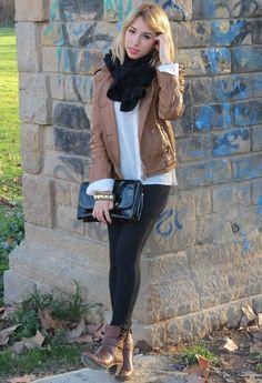14 Ways To Wear Brown Leather Jacket - Fashion Diva Design