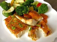 Dorsz pieczony z warzywami - Blog z apetytem Bruschetta, Gluten Free Recipes, Free Food, Broccoli, Food And Drink, Chicken, Meat, Dinner, Vegetables