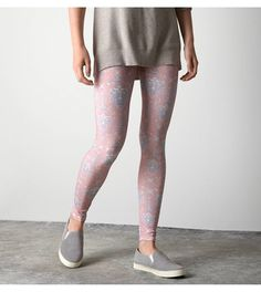 Pink AEO Ikat Printed Legging
