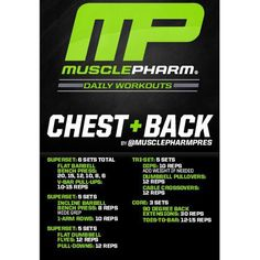 #MP Workout of the Day! Chest and Back by @MusclePharmPres Powered by #Assault Tag someone that wants a thick upper body!