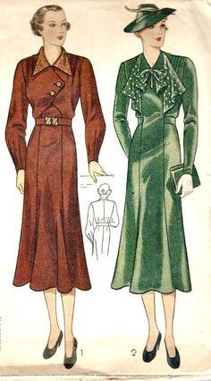 1930s Simplicity 2217 dress pattern