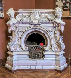 Marble Fireplace Mantel, Stove Fireplace, Marble Fireplaces, Fireplace Surrounds, Fireplace Design, Fireplace Accessories, Home Decor Accessories, Home Office Decor, Unique Home Decor