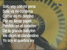 Manu Chao - Clandestino (Lyrics) - This song would be great for content on immigration.