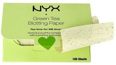 Pin for Later: Green Tea Belongs in Your Beauty Bag as Well as Your Mug NYX Green Tea Blotting Paper NYX Green Tea Blotting Paper (£5)