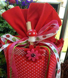 Mädchentraum PINK & Rot  - Schultüte/ Zuckertüte von XBergDesign2 auf DaWanda.com