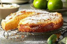 Appelkaneelcake met custard