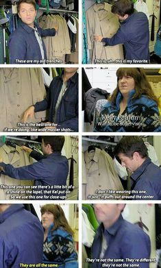 Bring back Castiel's old Trench Coat. They're not the same.